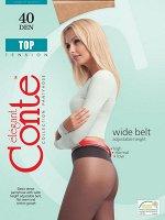 Top 40 колготки (Conte)/12/ прозрачные с широким регулируемым по высоте поясом