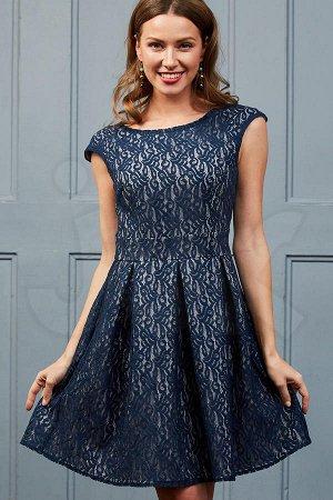 платье  синий-серый