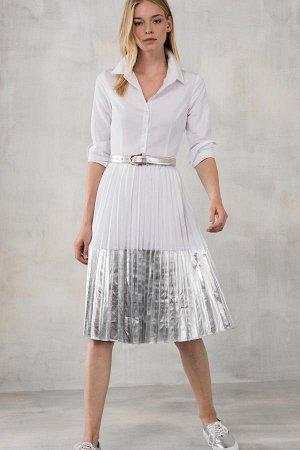 Платье белое с серебряным,Турция