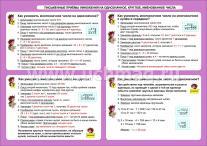 ФГОС Математика. Письменные приемы умножения на однозначное, круглое, именованное числа. 1-4 классы. Таблица-плакат 420х297,(Фор