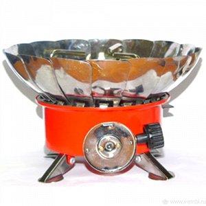 Плита-мини Газовая плита малая с ветрозащитой. Размер 145*145*120мм