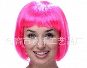 Парик розовый карнавальный