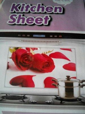 наклейка красные розы 3шт
