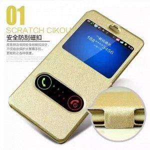 Золото. Чехол книжка 7 с окошками Huawei honor