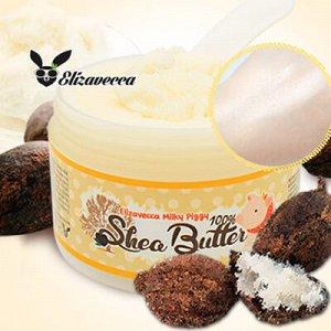 Крем-бальзам с маслом ши 100% для ослабленной кожи лица Milky Piggy Shea Butter  100%