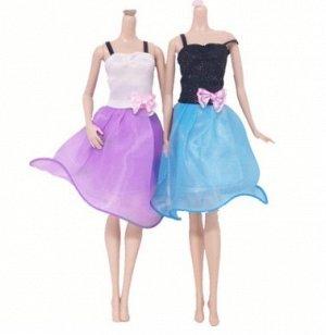 Платье двухцветное с бантиком