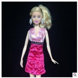 Платье розовое двухцветное