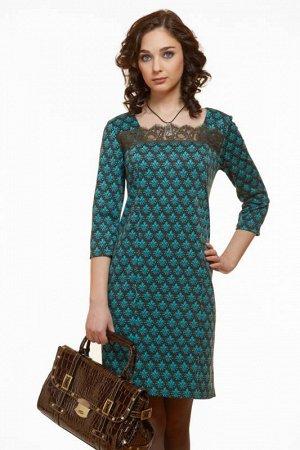 платье женское бирюза