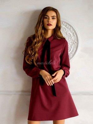 Элегантное платье винного цвета размер 44-46