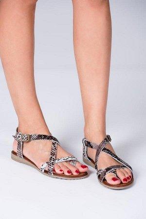 сандали летние, кожа