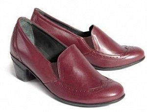 Туфли демисезонные женские, красный