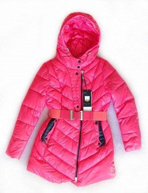 Пуховик зимний розовый