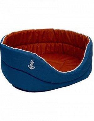 Лежанка Морская оксфорд водоотталк. №3 49*33*17 (синий/красный) (75613)
