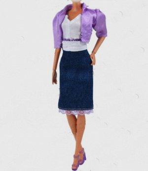 Комплект одежды (юбка + топ + жакет)