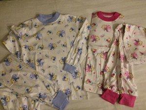 Пижама с мишками голубая