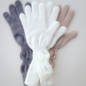Перчатки детские серые