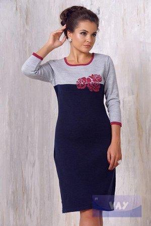 Красивое вязаное  платье  на 44 размер. или 44-46  На сейчас в офис отлично.