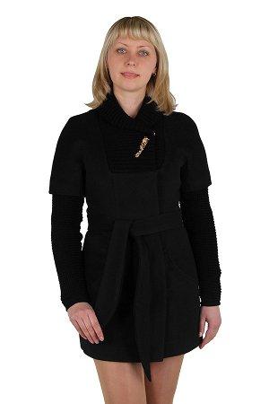 Пальто демисезонное Кашемир Черный