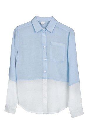Блузка для девочки белый/св.розовый