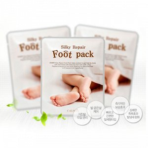 CALMIA Маска для ног смягчающая Silky Repair Foot Pack