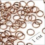 Колечки соединительные, цвет медь, р-р 6х0.9мм, в 5 гр. около 60 шт.