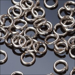 Колечки соединительные железные, цвет платина, р-р 5х10мм