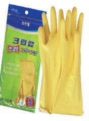 Перчатки из натурального латекса (с хлопковым покрытием) желтые размер M, 1 пара / 100