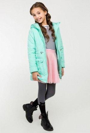Пальто детское для девочек Palermo светло-бирюзовый