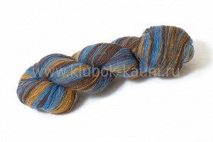 КАУНИ Artistic Yarn Blue-Brown 8/1