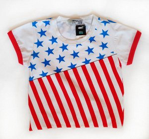 Футболка Капитан Америка флаг