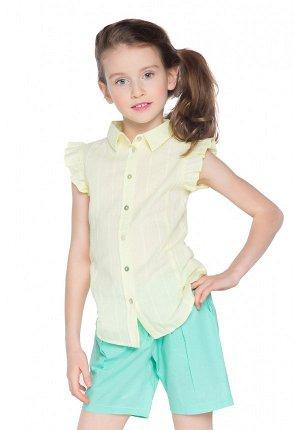 Блузка  светло-желтый цвет  100% хлопок