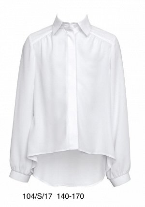 Красивая рубашка для школьницы