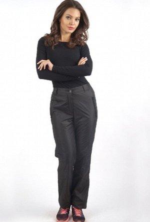Утепленные брюки на флисе черные классические