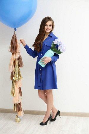 Платье 1500342 Цвет: Речной синий