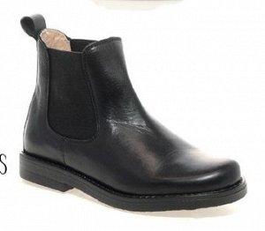 Качественные дорогие кожаные школьные ботинки 31-32 размер