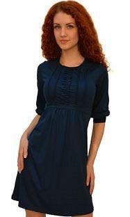 Трикотажное платье цвета Изумруд