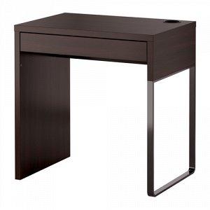 МИККЕ Письменный стол, черно-коричневый