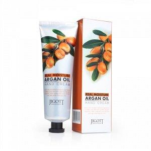 Jigott  Real Moisture Argan Oil Hand Cream  Увлажняющий крем для рук с Аргановым маслом, 100 мл.