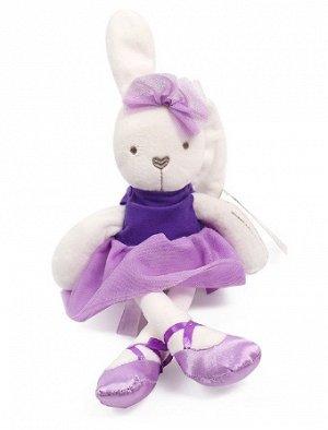 Мягкая игрушка зайчик-балерина фиолетовый