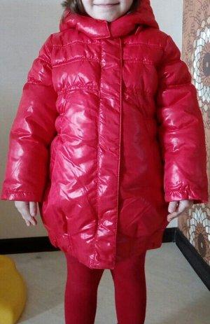 Куртка для девочки красная