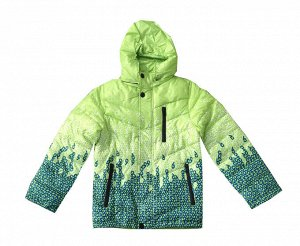 Куртка осенняя . Светло-зеленая