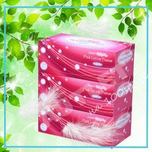 Бумажные розовые двухслойные салфетки ELLEMOI 180 шт (спайка 3 пачки)