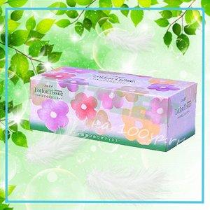 """Бумажные двухслойные салфетки ELLEMOI """"Lotion Tissue"""" с экстрактом малины 200 шт (1 пачка)"""