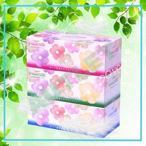 """Бумажные двухслойные салфетки ELLEMOI """"Lotion Tissue"""" с экстрактом малины 200 шт (спайка 3 пачки)"""