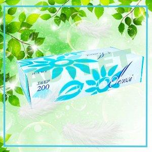 Бумажные двухслойные салфетки ELLEMOI 200 шт (1 пачка)