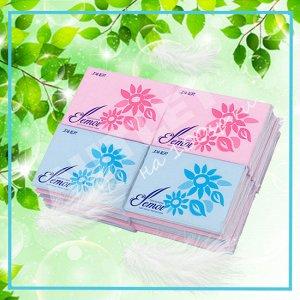 Бумажные двухслойные салфетки (платочки) ELLEMOI 10 шт. 20 пачек/упак
