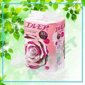 Ароматизированная двухслойная туалетная бумага ELLEMOI 30 м (12 рулонов) розовая