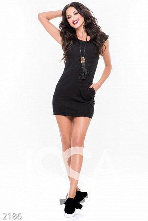Черное платье, хорошее качество, размер 46-48