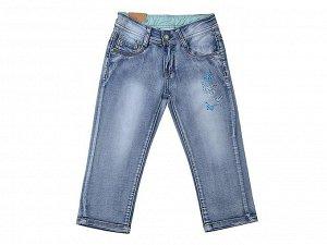 Бриджи джинсовые для девочек р.122