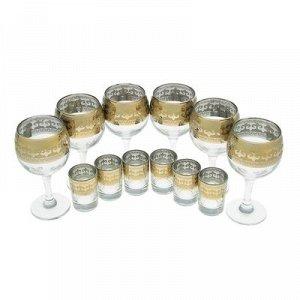"""Мини-бар 12 предметов """"Изящный"""" вино, византия, темный 240/50 мл"""